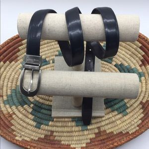 Nine West Reversible Black/Brown Leather Belt XL